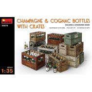 Бутылки для шампанского и коньяка с ящиками масштаб 1:35 MiniArt MiA35575, фото 1