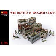 Винные бутылки с ящиками масштаб 1:35 MiniArt MiA35571, фото 1