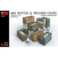 Молочные бутылки и деревянные ящики масштаб 1:35 MiniArt MiA35573, фото 1