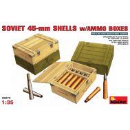 Советские 45мм снаряды с ящиками масштаб 1:35 MiniArt MiA35073, фото 1