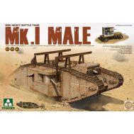Тяжелый танк Mk.I самец 2в1 1МВ масштаб 1:35 Takom TAK2031, фото 1