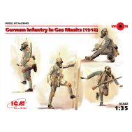 Германская пехота в противогазах 1918г. масштаб 1:35 ICM35695, фото 1