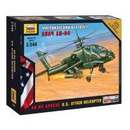 Американский вертолет Апач АН-64 масштаб 1:144 ZV7408, фото 1