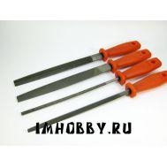 Набор напильников 200 мм с пластиковой ручкой 4 шт IMF42705, фото 1