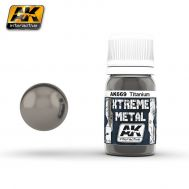 Xtreme Metal Titanium 30ml AK-Interactive AK-669, фото 1