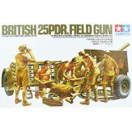 Английская 25-фунтовая пушка с 6 фиг. масштаб 1:35 Tamiya 35046, фото 1