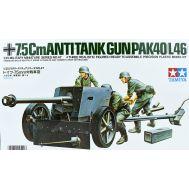 PAK40/L46 немецкая 75-мм противотанковая пушка масштаб 1:35 Tamiya 35047, фото 1