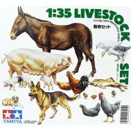 Фигурки животных 18 штук масштаб 1:35 Tamiya 35128, фото 1