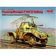 Panzerspahwagen P 204 (f) железнодорожный бтр масштаб 1:35 ICM35376, фото 1