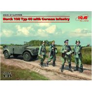Horch 108 Typ 40 с германской пехотой масштаб 1:35 ICM35504, фото 1