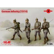 Германская пехота 1914г. (4 фигуры) масштаб 1:35 ICM35679, фото 1