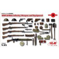 Вооружение и оборудование Британской пехоты 1 МВ масштаб 1:35 ICM35683, фото 1