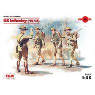 Пехота США 1917г., 4 фигуры масштаб 1:35 ICM35689, фото 1