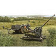 ЗУ 2cm Flak38 Late Version/Sd. Ah 51 масштаб 1:35 Hobby Boss HB80148, фото 1