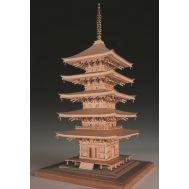 5-ти ярусная пагода RURIKO-JI масштаб 1:75 WJ35238-рус, фото 1