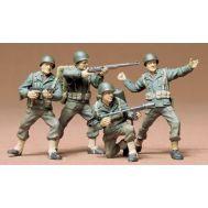 Американская пехота в атаке (4 фигуры, 8 вид. воор.) масштаб 1:35 Tamiya 35013, фото 1