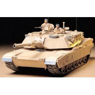 Амер. танк M1A1 Abrams с 120-мм пушкой и 2 фиг. масштаб 1:35 Tamiya 35156, фото 1