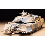 Амер. танк M1A1 Abrams с минным тралом и 2 фиг. масштаб 1:35 Tamiya 35158, фото 1