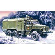 Урал-375А подвижный командный пункт масштаб 1:72 ICM72712, фото 1