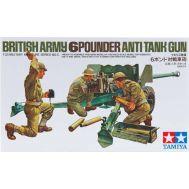 Английская 6-ти фунт. противотанк. пушка 57мм с 3 фиг. масштаб 1:35 Tamiya 35005, фото 1