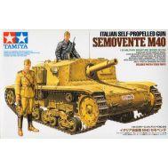 Итальянская САУ Semovente M40 с фиг. масштаб 1:35 Tamiya 35294, фото 1