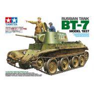 Советский танк БТ-7 1937г., 2 фиг, фототр, наб. траки масштаб 1:35 Tamiya 35327, фото 1