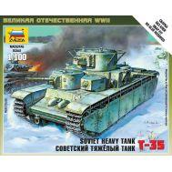 Советский тяжелый танк Т-35 масштаб 1:100 ZV6203, фото 1