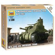 Американский танк M3 Lee масштаб 1:100 ZV6264, фото 1