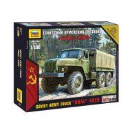 Советский армейский грузовик Урал 4320 масштаб 1:100 ZV7417, фото 1
