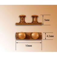 Двойной швартов на основании, металл, 5 мм, 2 шт AM4909-07, фото 1