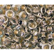 Иллюминатор-заклепка, никелированный, 3 мм, 5 шт AM4946-03, фото 1