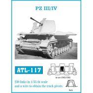 Траки металл Pz.III/IV (1943-45 арочный гребнь) масштаб 1:35 FRIULMODEL ATL-35-117, фото 1