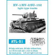 Траки металл КВ-1/КВ-2/СУ-152 (облегченные) масштаб 1:35 FRIULMODEL ATL-35-51, фото 1