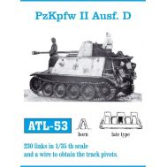 Траки металл PzKpfw II Ausf. D поздний тип масштаб 1:35 FRIULMODEL ATL-35-53, фото 1