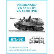 Траки металл FERDINAND масштаб 1:35 FRIULMODEL ATL-35-62, фото 1