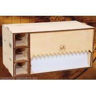 Модуль-бокс под бумажное полотенце с тремя ящичками MWP-0010-06, фото 1