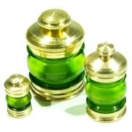 Зеленый бортовой фонарь, 11,5 мм, латунь и пластик, 2 шт RB072-06, фото 1