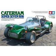 Caterham Super Seven BDR, с подставкой и булыжной мостовой масштаб 1:12 Tamiya 10204, фото 1
