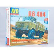 Армейский грузовик Горький-66 4х4 масштаб 1:43 1384AVD, фото 1