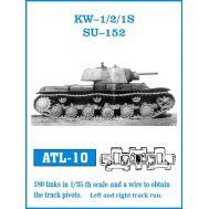 Траки металл КВ-1, КВ-2, СУ-152 (плюс два ведущих колеса) масштаб 1:35 FRIULMODEL ATL-35-10, фото 1