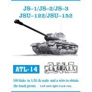 Траки металл ИС-1, ИС-2, ИСУ-122, ИСУ-152 (плюс два ведущих колеса) масштаб 1:35 FRIULMODEL ATL-35-14, фото 1
