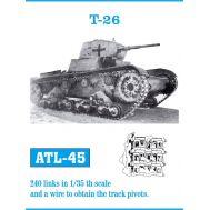Траки металл Т-26 масштаб 1:35 FRIULMODEL ATL-35-45, фото 1