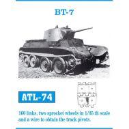 Траки металл БТ-7 (плюс два ведущих колеса) масштаб 1:35 FRIULMODEL ATL-35-74, фото 1
