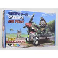 Сборная модель Curtiss P-40 Warhawk Fighter And Pilot Tiger Model TIGTT002, фото 1