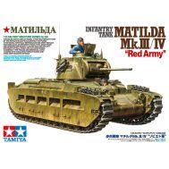 Matilda MK III/IV в Красноармейском варианте, 2 фигуры, 2 вида траков, 2 вар. маркировки масштаб 1:35 Tamiya 35355, фото 1