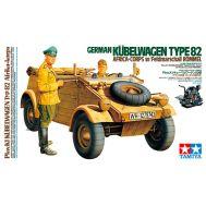 Kubelwagen Type 82 Africa Corps, с фигурой водителя и фельдмаршала Роммеля масштаб 1:16 Tamiya 36202, фото 1