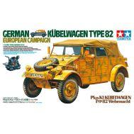 Kubelwagen Type 82 European Campaign, с фигурой водителя масштаб 1:16 Tamiya 36205, фото 1