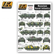 Декаль для техники российской морской пехоты масштаб 1:35 AK-Interactive AK-803, фото 1