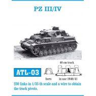 Траки металл PZ III/IV масштаб 1:35 FRIULMODEL ATL-35-03, фото 1