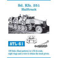 Траки металл Sd. Kfz. 251 Halftrack масштаб 1:35 FRIULMODEL ATL-35-61, фото 1
